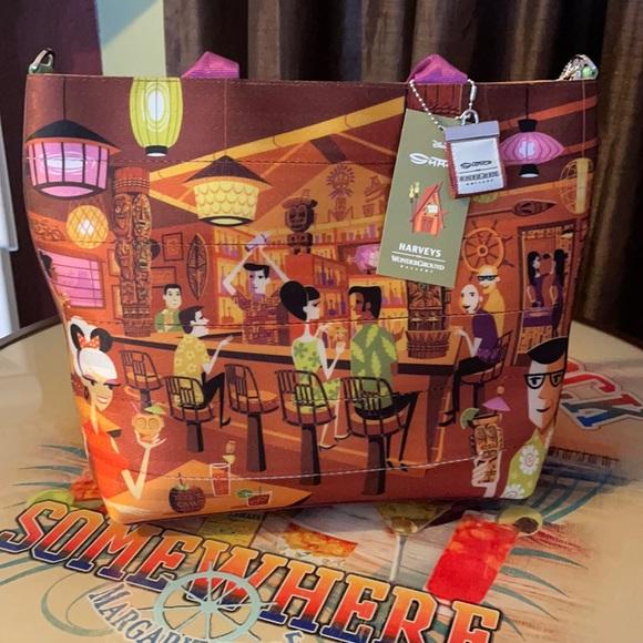 Disney Handbags - Disney's Trader Sam's Tiki Shag Bag